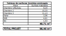 SURFACES HIMALIA 3 CHS BIS ETAGE