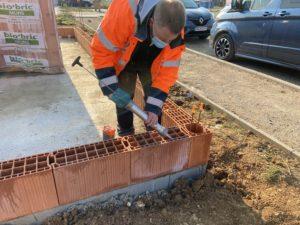 Utilisation de la nouvelle solution pour les briques